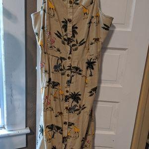 "Old Navy ""safari print"" dress"